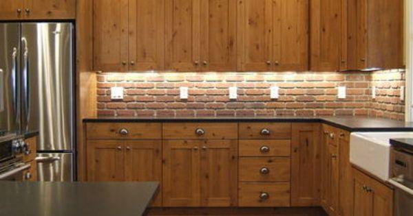Backsplash Tile With Knotty Alder Cabinets Knotty Alder