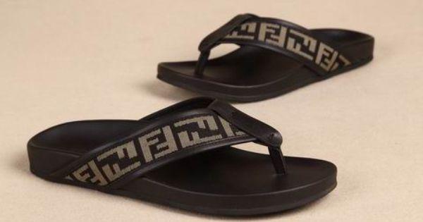 Shoes mens, Fendi, Leather sandals
