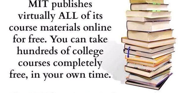 free online courses mit