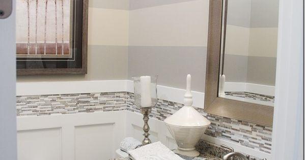 Grey striped walls in bathroom 2015 birmingham parade of for Bathroom builders birmingham