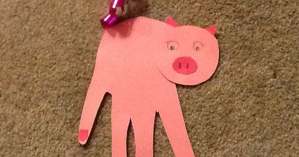 Handprint Pigs Made For Eyfs Great For A Three Little