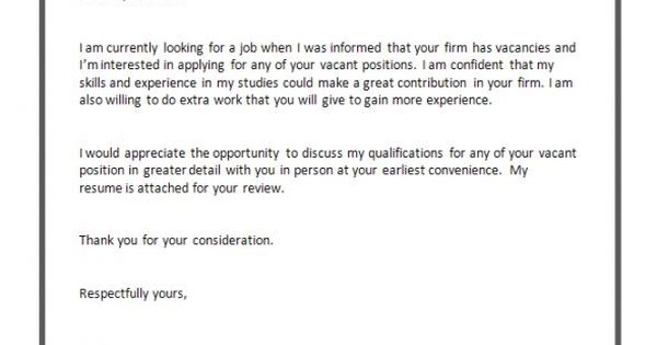 Cover Letter Format For Job Application …
