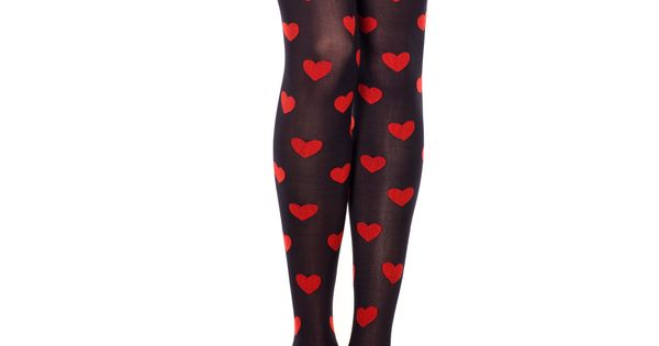 Burgundy Spotty Tights 90d Navy Polka Dots Calzedonia Ladies Opaque