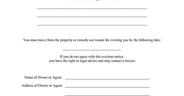 printable sample eviction notices form real estate forms pinterest real estate forms real. Black Bedroom Furniture Sets. Home Design Ideas
