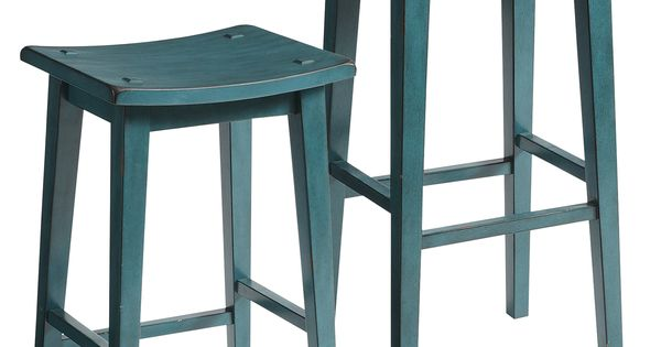 Lawson Backless Bar Amp Counter Stools Teal Hardwood