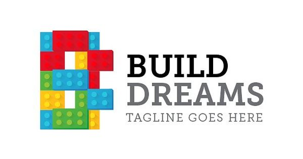 Letter B Logo – Lego inspired logo