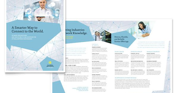 Global Network Services Brochure Template Design By Stocklayouts