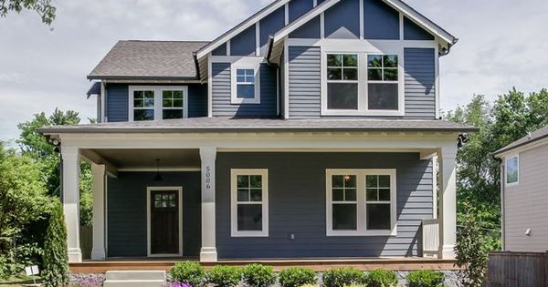 Our exterior color sw web gray with white trim black - Sherwin williams outerspace exterior ...