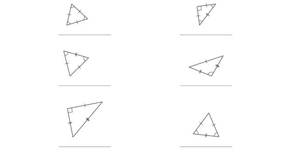 classifying triangles by angle and side properties a 4th grade math pinterest triangles. Black Bedroom Furniture Sets. Home Design Ideas