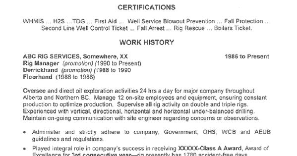 Rig Electrician Resume] Professional Rig Electrician ...