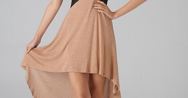 Mesh Cutout Colorblock Hi-Lo Dress, New Years!
