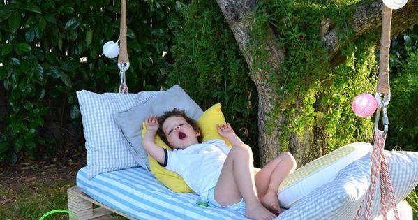 Pallets para crianças - balanço para o jardim