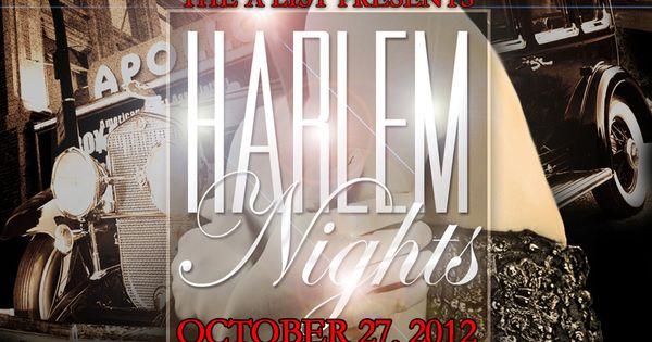 Harlem Nights Party Invitation Google Search Dad 60th