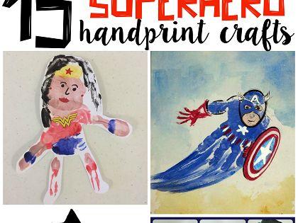 Amazing Superhero Handprint Crafts for Kids (Find batman, superman, hulk, captain america,