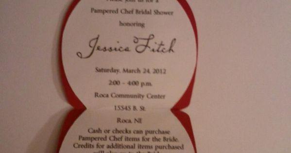 pampered chef invitations