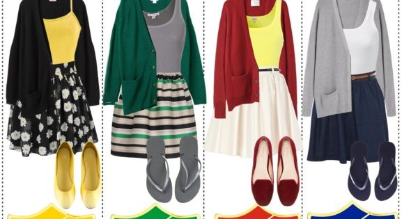 """""""Harry Potter House Themed Outfits; Simple, yet stylish!"""" by thetipcastle on Polyvore,"""
