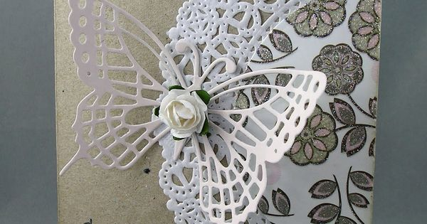 Love this so elegant and what a wonderful idea with the doily