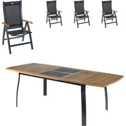 Gartenmobel Set Kingston Prestige 102 9x180 Ausziehbar 4 Stuhle