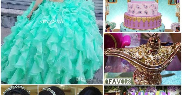 Quinceanera Centerpieces Blue Princess Jasmine/Arabi...