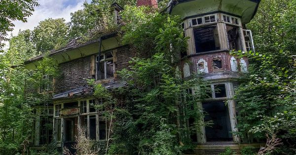 A Small Abandoned Manor House In South Wales Slowly Being
