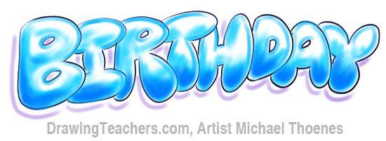 Birthday Bubble Letters Graffiti Lettering Bubble Letters Graffiti