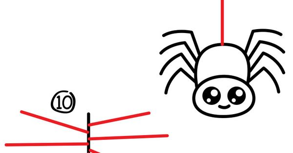 how to draw a cartoon spider - art for kids hub