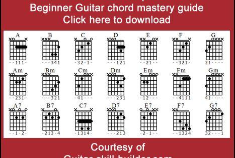 Beginner Guitar Chord Chart Pdf Beginner Guitar Chords