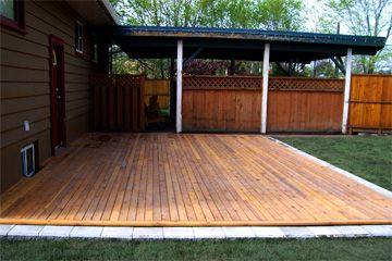 Ground Level Wood Porch Google Search Backyard Patio Patio