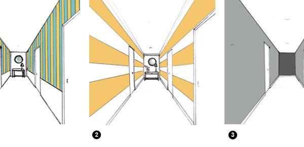1 pour allonger les murs et augmenter l 39 impression de hauteur sous plafond rayure verticale Refaire son couloir