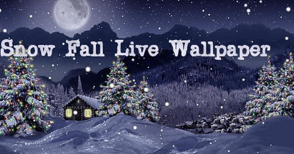 Snowfall Is A Beautiful Live Wallpaper Featuring Gentle Snow Flakes Falling Overtop Swaying Pine Christmas Live Wallpaper Christmas Landscape Winter Wallpaper