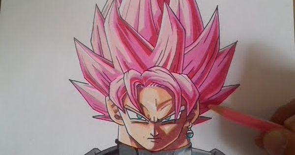 COMO DIBUJAR A GOKU BLACK ROSE / How To Draw Goku Black