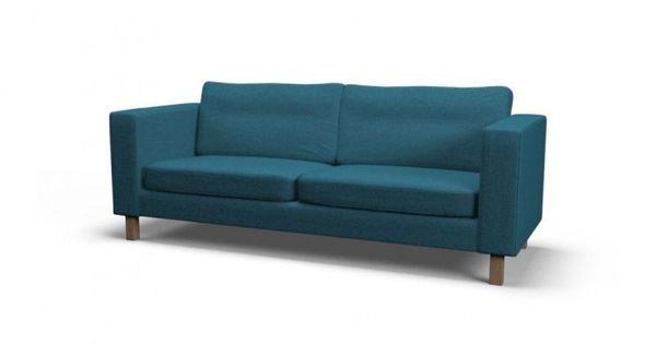 Ikea Karlstad Three Seat Sofa Slipcover Event Teal Blue