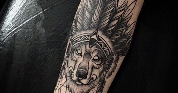 indian wolf tattoo tatoo and tattos. Black Bedroom Furniture Sets. Home Design Ideas