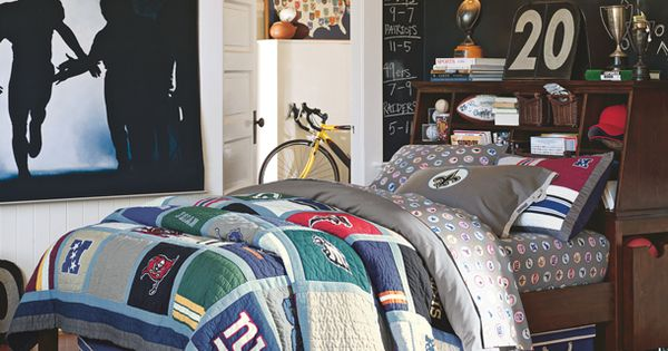 football bedrooms rush the field stuff your stuff