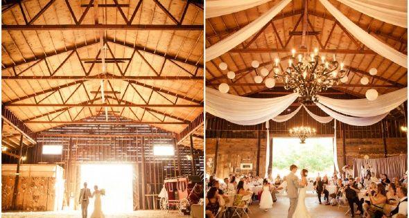 Northern California Barn Wedding Paper Lantern
