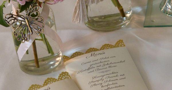 individuelle Menükarte Hochzeit im Vintage Look mit Bordüre und ...