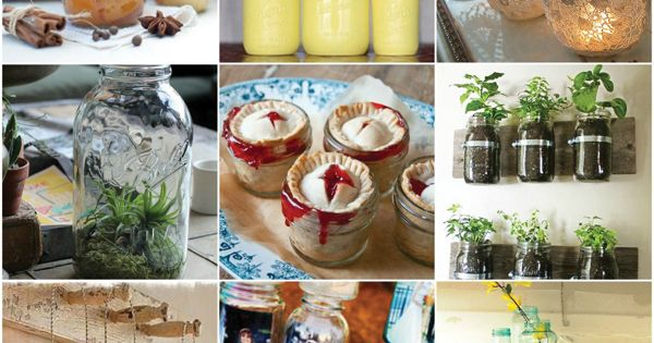 Lots of glass jars ideas (for you Jamie)