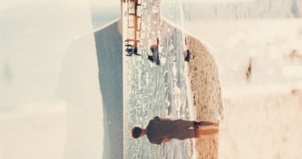 double exposure at the beach