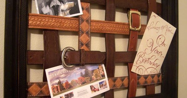 Repurposed leather belt message board http bec4 Repurposed leather belts