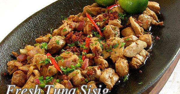 Fresh Tuna Sisig Panlasang Pinoy Meaty Recipes Recipe Fresh Tuna Sisig Recipe Sisig