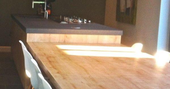 Een kookeiland met tafel is prachtig in een grote open ruimtes bekijk de 13 voorbeelden van een - Eigentijdse keuken tafel ...