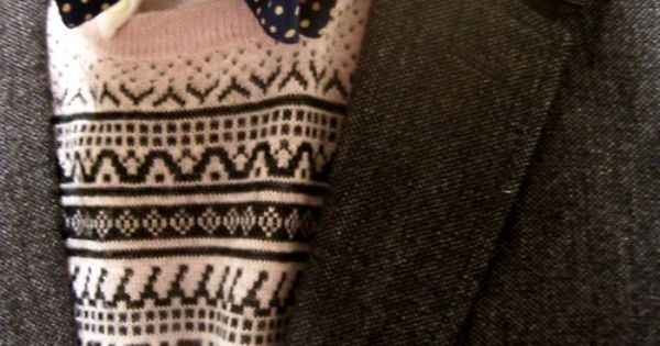 Bowtie and sweater. #style #fashion #men