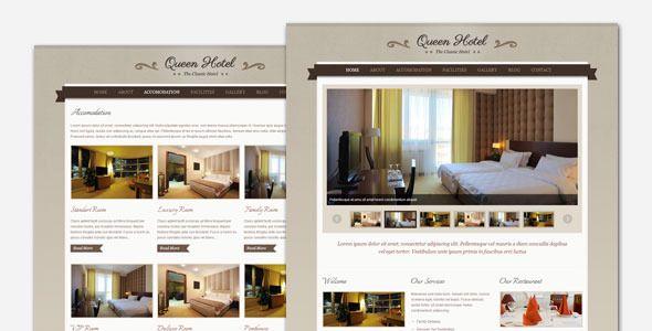 Queen Hotel Classic And Elegant Wordpress Theme Elegant