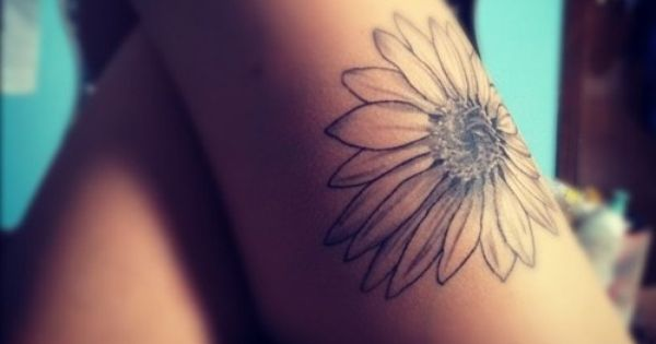 Sunflower Tattoo. Was Thinking About This The Other Day.. My Grandpa Really