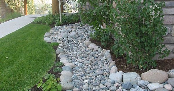 dry creek bed landscaping ideas | and erosion decks wood drainage firepits