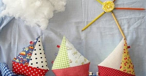 fabric boats for a little boy