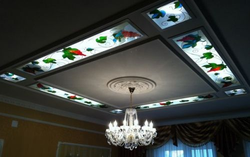 Gypsum Board False Ceiling With Stained Glass Panels A Comprehensive Guide To Installing Stained False Ceiling Design Ceiling Design Pop False Ceiling Design