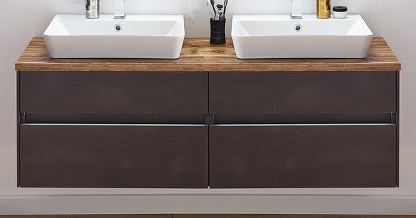 Puris Unique Waschtisch Als Set 142 Cm Doppelwaschplatz Mit Keramik Aufsatz Waschtischen Waschtisch Holz Unterschrank Gaste Wc Mobel Waschtisch Mit Aufsatzwaschbecken