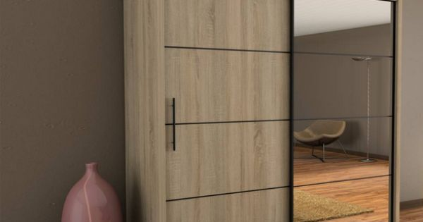 Sliding door wardrobe inova ii oak sonoma 200cm pinteres for Door 9 sonoma