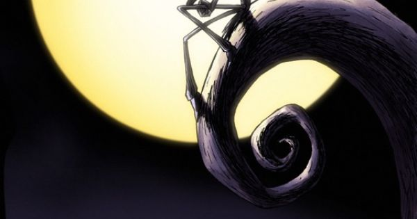 Jack Sitting On Spiral Hill Nightmare Before Christmas